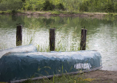 Photograph - Canoe On The Pond by Ron Grafe