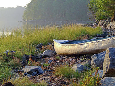 Photograph - Canoe On The Rocks by Brian Pflanz