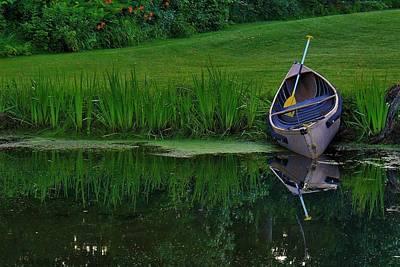 Canoe Reflection Art Print