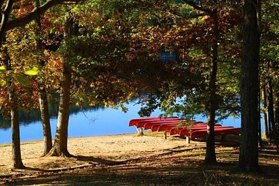 Photograph - Canoe Rental by Kathryn Meyer