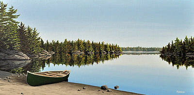 Canoe The Massassauga Art Print by Kenneth M  Kirsch