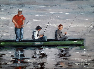 Painting - Canoe X 3 by Shelley Koopmann