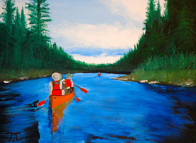 Canoeing Boundary Waters Bsa Art Print by Troy Thomas