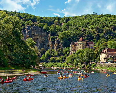 Photograph - Canoeing On The Dordogne River by Anthony Dezenzio