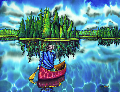 Painting - Canoeing Ontario by Daniel Jean-Baptiste