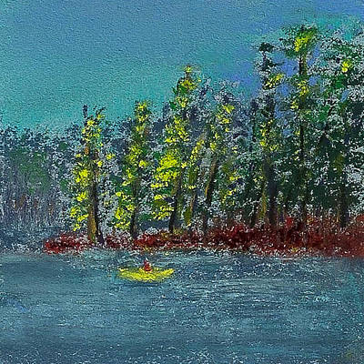 Painting - Canoeing The Lake by David Patterson