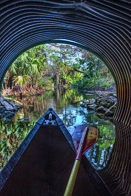 Photograph - Canoeing Through The Tunnel by Debra and Dave Vanderlaan