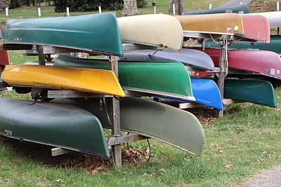 Photograph - Canoes by Allen Nice-Webb