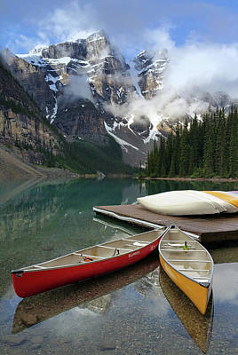 Photograph - Canoes And Lake by Art Cole