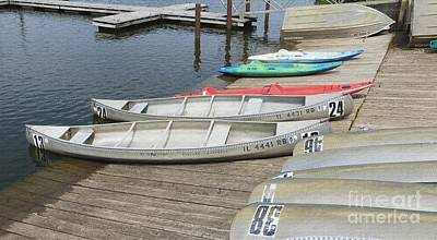 Photograph - Canoes At Busse Lake by Kathie Chicoine