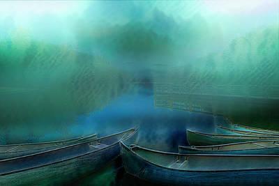 Photograph - Canoes At Nightfall by Debra and Dave Vanderlaan