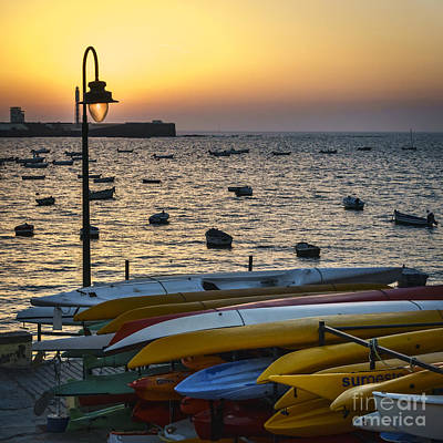 Photograph - Canoes In La Caleta Cadiz Spain by Pablo Avanzini