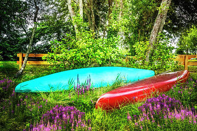 Photograph - Canoes In The Summer by Debra and Dave Vanderlaan