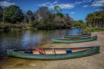 Photograph - Canoes In The Summer In Hdr Detail by Debra and Dave Vanderlaan