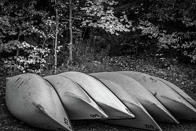 Photograph - Canoes by Joshua Hakin