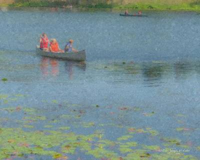 Painting - Canoes On Shovelshop Pond by Bill McEntee
