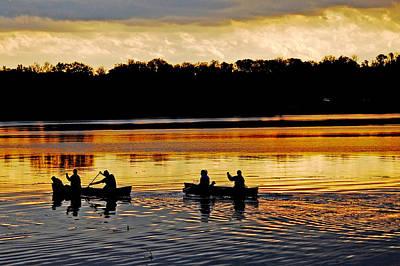 Canoes On The Potomac River Art Print