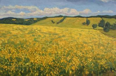 Painting - Canola Fields by Liliane Fournier