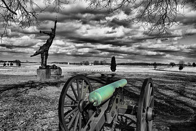 Digital Art - Canon At Gettysburg by Greg Sharpe