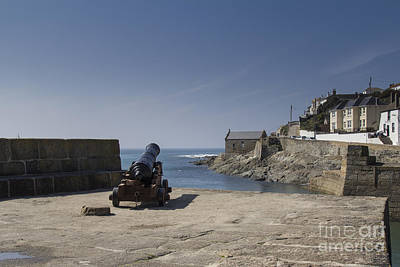 Photograph - Canon At Porthleven by Brian Roscorla