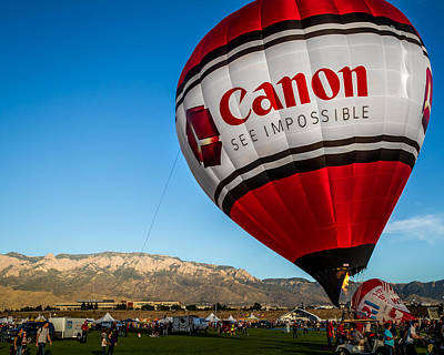 Photograph - Canon - See Impossible - Hot Air Balloon by Ron Pate