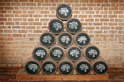 Photograph - Canon Powder Barrels by Sally Weigand