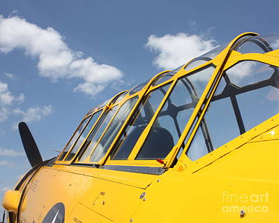 Photograph - Canopy Of A T6 Airplane by Bill Lang