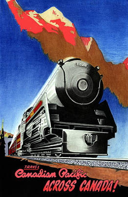 Train Mixed Media - Canpac by Lyle Brown