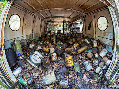 Photograph - Cans In The Van I by Shirley Radabaugh