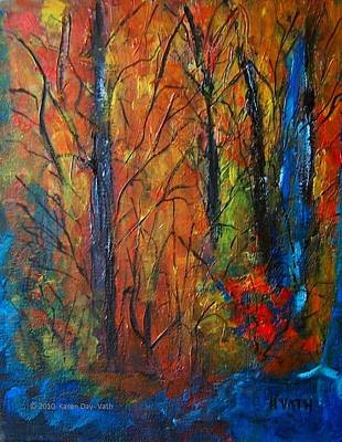 Painting - Can't See The Forest II by Karen Day-Vath