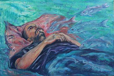 Painting - Can't Sleep #2 by Lisa Kimberly Glickman