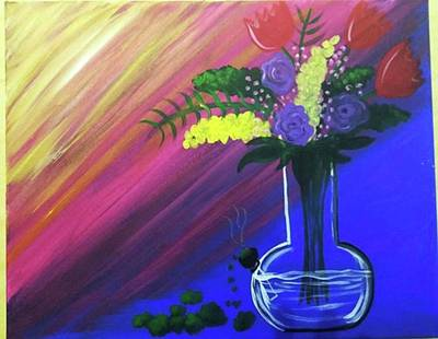 Acrylic Painting - Bong Bouquet by Artist Jamari