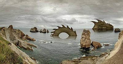 Cantabria, Costa Quebrada, Amazing Rock Formations Art Print