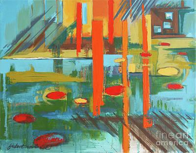 Painting - Cantaloupe Island by Erin Fickert-Rowland