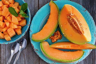 Cantaloupe Photograph - Cantaloupe Melon by Teri Virbickis