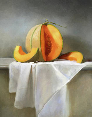 Cantaloupe Painting - Cantaloupes by Robert Papp