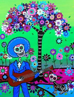 Painting - Cantando A Mi Chihuahua by Pristine Cartera Turkus
