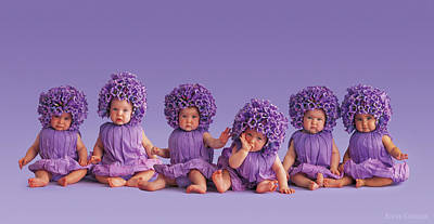 Floral Photograph - Cantebury Bells by Anne Geddes