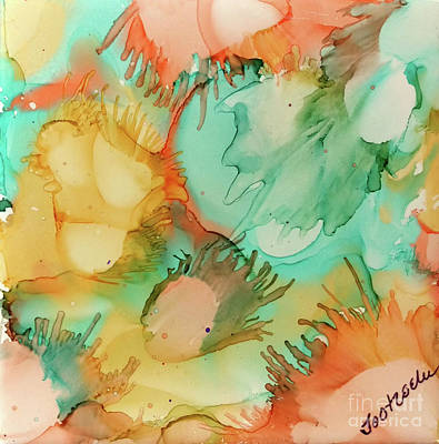 Splashy Painting - Cantaloupe And Honeydew by Jo Ann Bossems