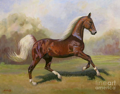 Landmarks Painting Royalty Free Images - Canter Royalty-Free Image by Jeanne Newton Schoborg