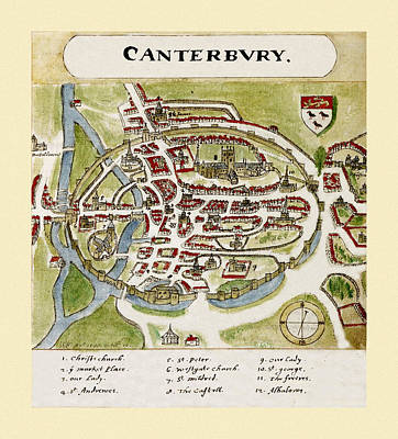 Photograph - Canterbury 1588 by Andrew Fare