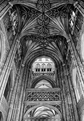 Thomas Becket Photograph - Canterbury Cathedral - Interior by Philip Openshaw