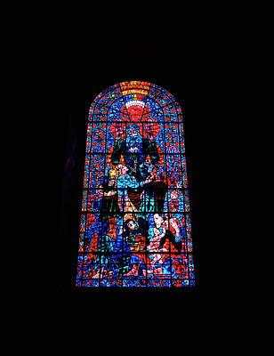 Photograph - Canterbury Cathedral Peace Window  by Shaun Higson