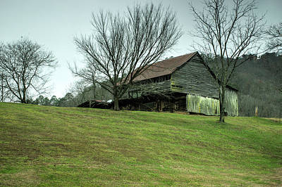 Cantilever Barn Sevier County Tennessee Art Print