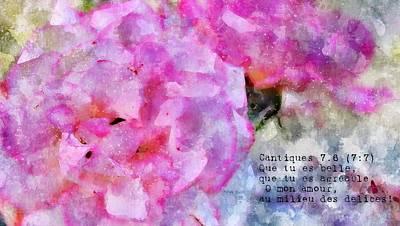 Digital Art - Cantique Des Cantiques 7-6 by Payet Emmanuel
