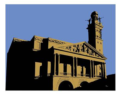 Digital Art - Canton Courthouse From The South by Su Nimon