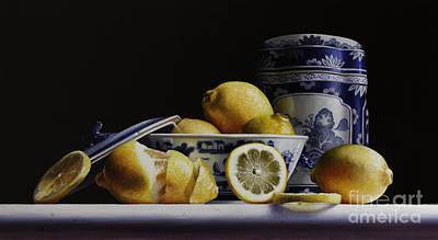 Lemon Painting - Canton With Lemons by Larry Preston