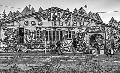 Photograph - Canuck Funhouse Bw by Steve Harrington