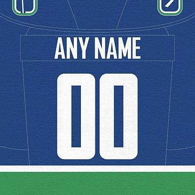 Vancouver Canucks Digital Art - Canucks Customizable Jersey by Game On Images