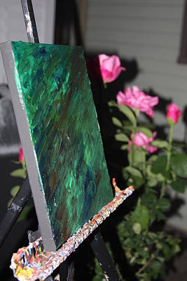 Photograph - Canvas And Roses by Vadim Levin